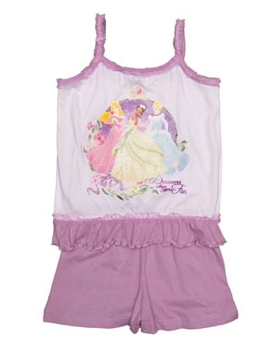 Disney Princess Pijama Niña Manga Corta