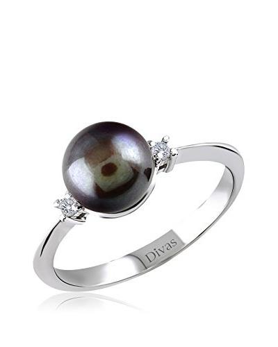 Divas Diamond Anillo Diamante Black Pearl Plata