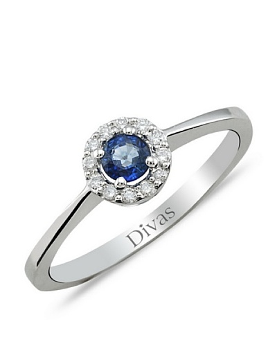 Divas Diamond Anillo Diamante Zafiro