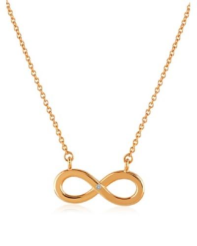 Divas Diamond Collar Diamante Infinity Dorado