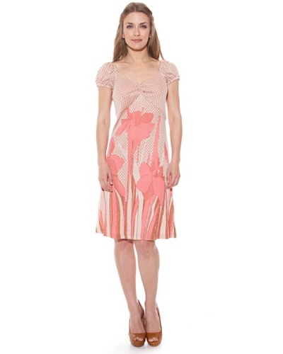 Divina Providencia Vestido Flores Rosa