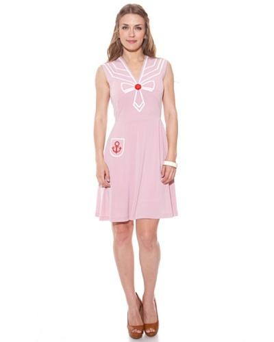 Divina Providencia Vestido Marinero Lazo Liso Rosa