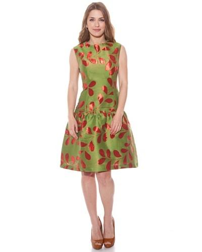Divina Providencia Vestido Cocktail Verde / Rojo