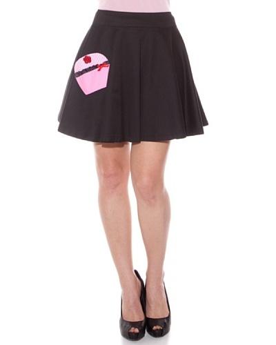 Divina Providencia Falda Pastel Negro