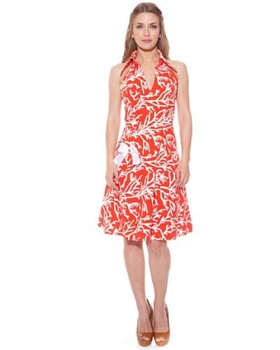 Divina Providencia Vestido Ramas Coral