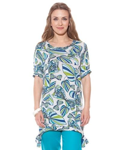 Divina Providencia Camisola Mariposas Azul