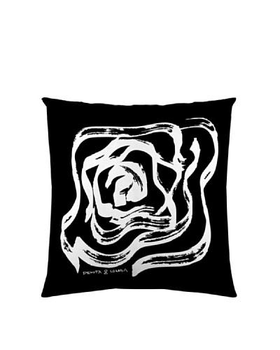 D&L Funda de Cojín Rosas Panel