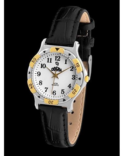 Dogma L1005 - Reloj Caballero Movimiento Quarzo Correa Piel Negro
