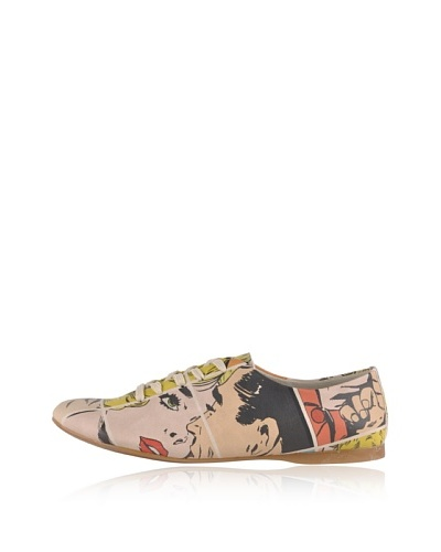 Dogo Zapatos Oxford Kiss Me...Pop Art Crema