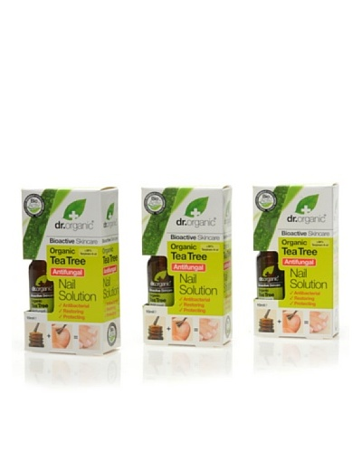 Dr.Organic Set 3 Solución Para Uñas Árbol de Té Orgánico 10 ml cad.
