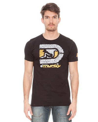 Drunknmunky Camiseta Manga Corta Nawata Negro