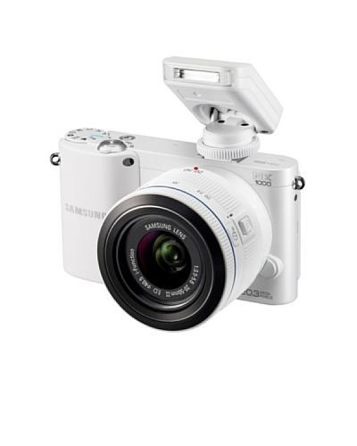 Samsung Cámara NX1000 + objetivo NX 20-50 mm blanca