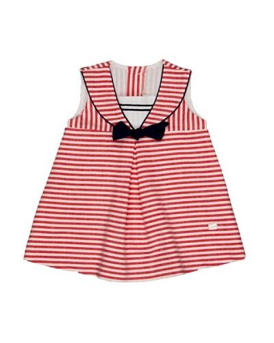 Elisa Menuts Vestido Bebé Marinero Rojo