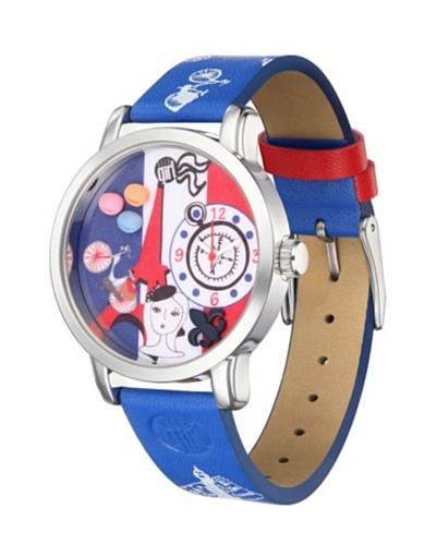 Elle GW40020P01X – Reloj de Señora movimiento de cuarzo con correa de plástico Azul