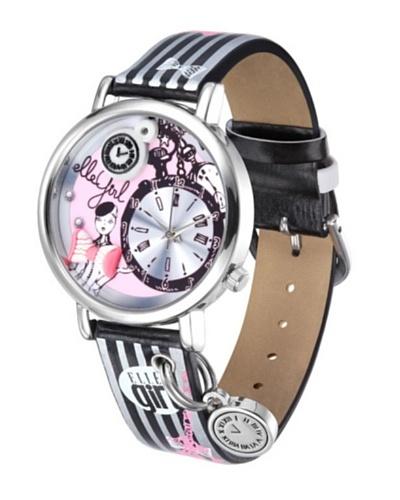 Elle GW40058S02X - Reloj de Señora movimiento de cuarzo con correa de plástico Negro