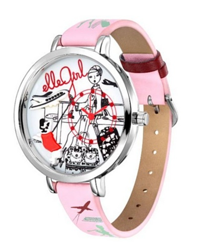 Elle GW40055S01X – Reloj de Señora movimiento de cuarzo con correa de plástico Rosa