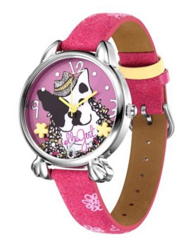 Elle GW40063S03X - Reloj de Señora movimiento de cuarzo con correa de plástico Fucsia