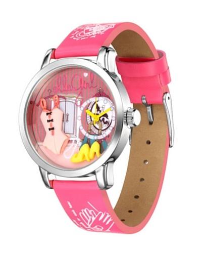 Elle GW40021P02X - Reloj de Señora movimiento de cuarzo con correa de plástico Rosa