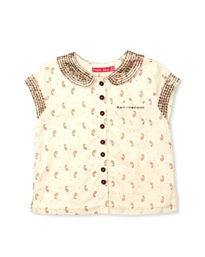 Emma Levine Sequin Collar Girl's Shirt