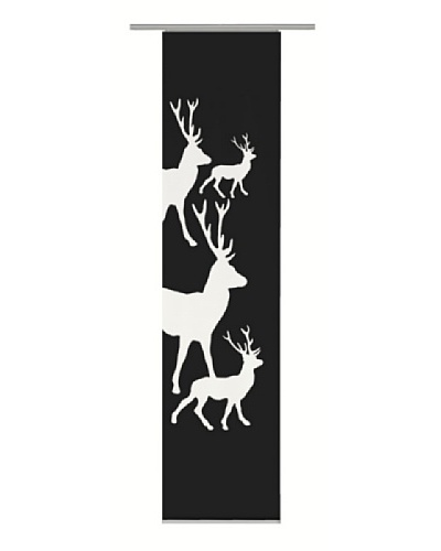 Emotiontextiles Panel chino ciervos Negro