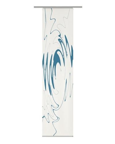Emotiontextiles Panel chino ondas Blanco / Turquesa