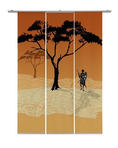 Emotiontextiles Set de tres paneles chinos árbol Rojo