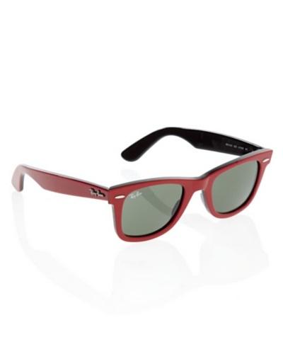 Rayban Gafas de Sol Wayfarer ORB 2140 rojo / negro