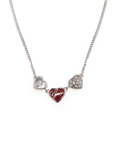 Guess Collar Love plata / rojo Única
