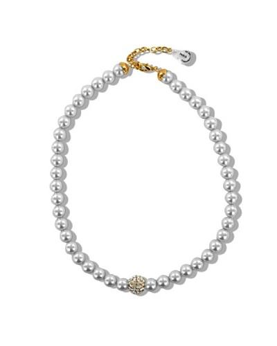 Fashion Victim Collar con Cristales blanco
