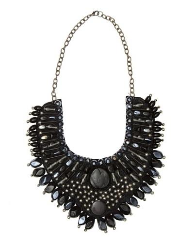 Cuplé Collar Hematite negro