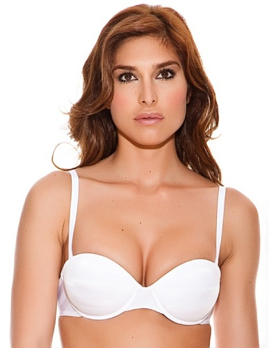 Evelyn Sujetador Capacidad Push Up Sin Tirantes Urban Blanco