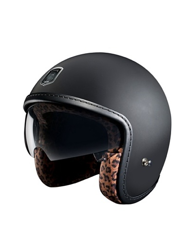 Exklusiv Helmets Casco Racer Black Leopard