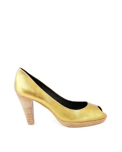 Eye Shoes Zapatos Dorado