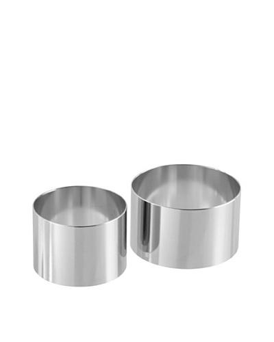 Fackelmann 48176 – Molde para postres y entrantes (2 unidades de 6 cm y 8 cm), acero