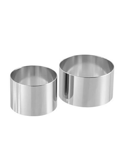 Fackelmann 48176 - Molde para postres y entrantes (2 unidades de 6 cm y 8 cm), acero
