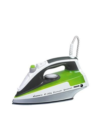 Fagor - Plancha Ropa Pl2405, 2400W, Suela Ceramica. Blanco-Verde