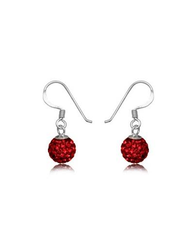 Fashion Victim Pendientes con Cristales rojo