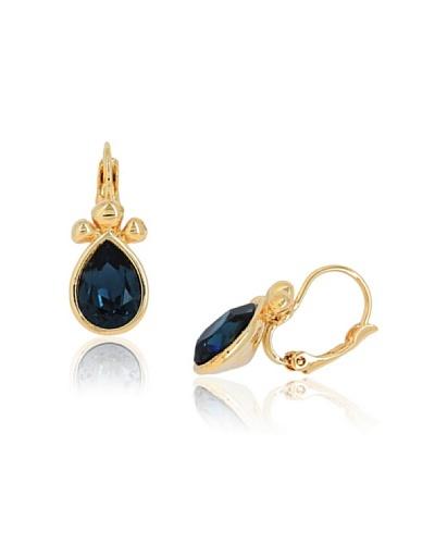 Fashion Victime Pendientes cristal gota azul