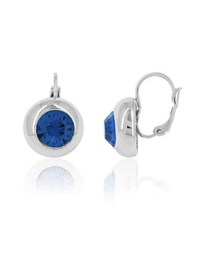 Fashion Victime Pendientes Swaroski azul