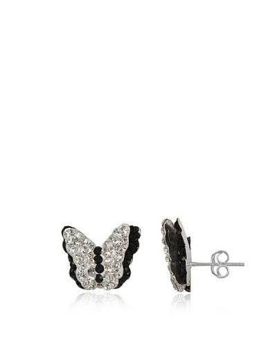 Fashionvictime Pendientes 8300012 Plata / Negro / Transparente
