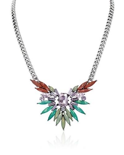 Fashionvictime Collar 8299576 Plateado / Naranja / Verde