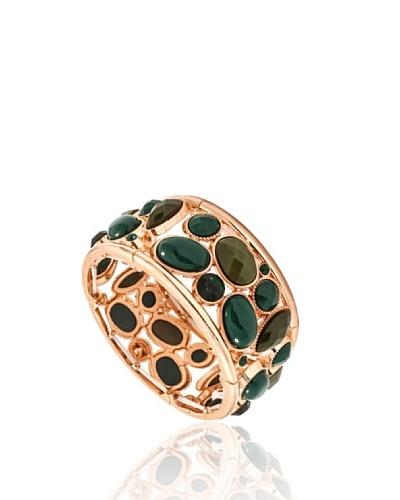 Fashionvictime Brazalete 8299231 Dorado / Verde