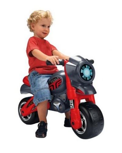 Feber team Motofeber 2 Niño – Correpasillos con casco (71 x 39 x 51 cm), color rojo y gris (Famosa)