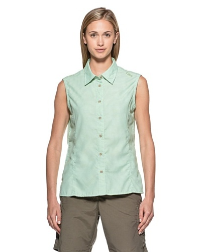 Fratelli Campagnolo Camisa Cuadros Sin Mangas Limón / Verde