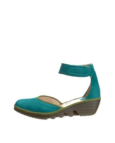 Fly London Women's Zapatos Pank Petróleo / Pistacho