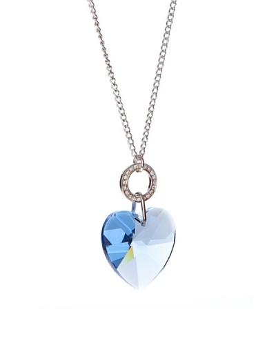 Folli Follie Colgante Cristal Blu Plateado