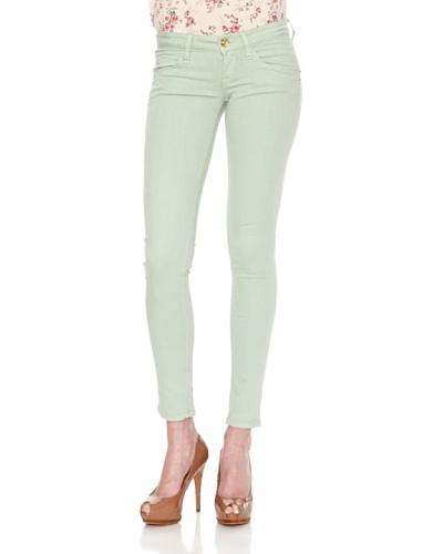 Fornarina Pantalón Blanca Apple Verde Menta