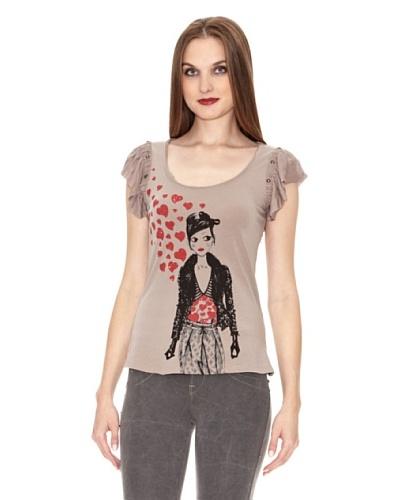 Fornarina Camiseta Smog Stretch Cotton