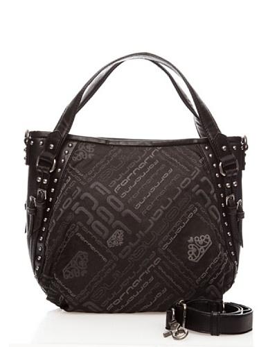 Fornarina Bags TYLER B606N191 – Bolso de mano de nylon para mujer