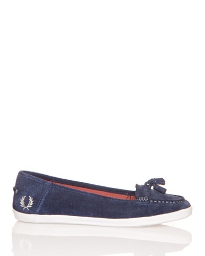 Fred Perry Náuticos Betty Suede Carbon Blue